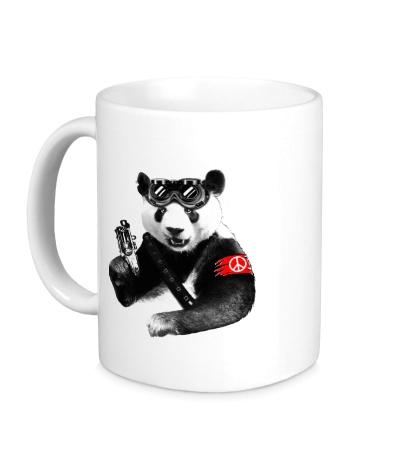 Керамическая кружка Панда повстанец