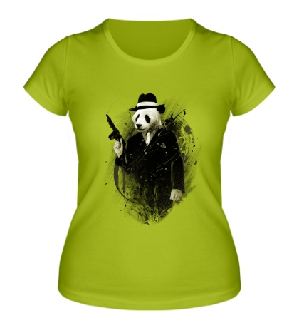 Женская футболка Панда гангстер