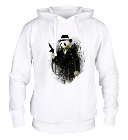 Толстовка с капюшоном Панда гангстер