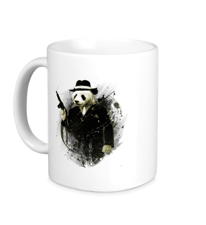 Керамическая кружка Панда гангстер