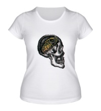 Женская футболка Череп солдата