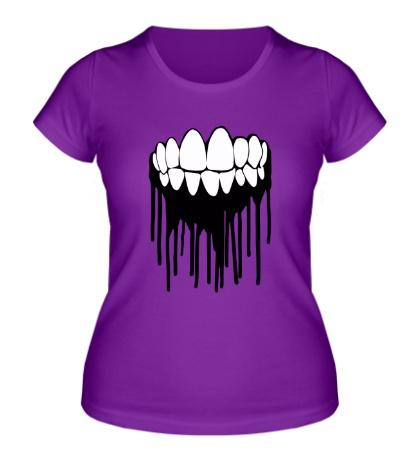 Женская футболка Зубастая улыбка