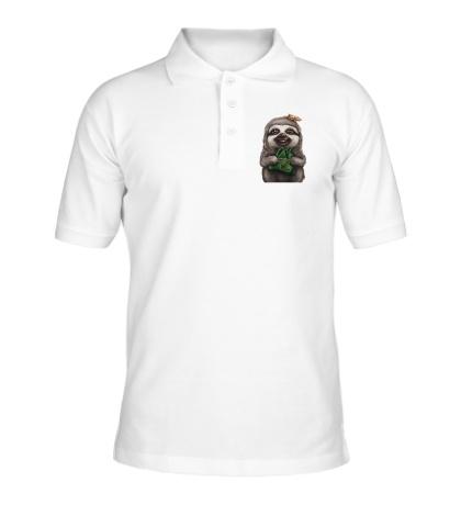Рубашка поло Довольный ленивец