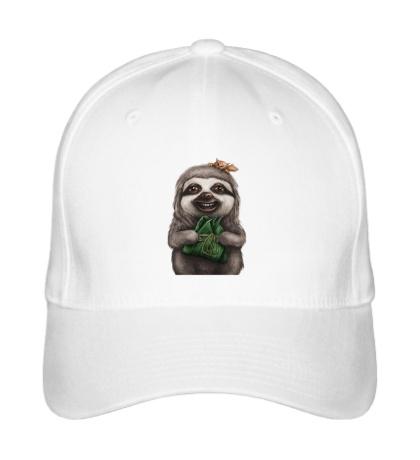 Бейсболка Довольный ленивец