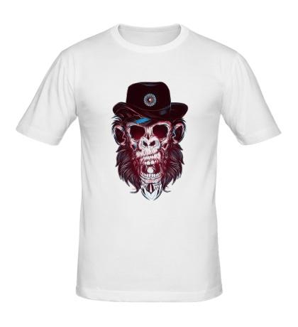 Мужская футболка Череп обезьяны