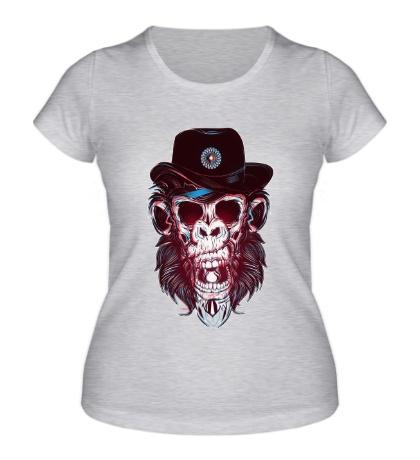 Женская футболка Череп обезьяны