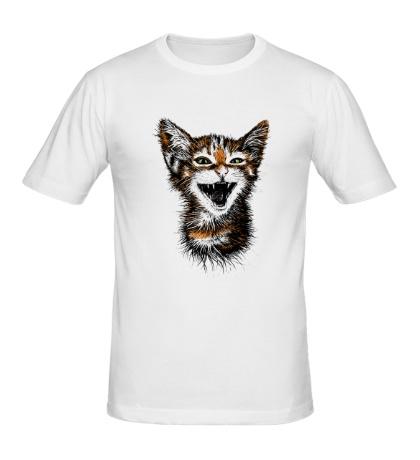 Мужская футболка Кот-тигр