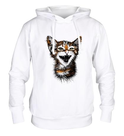 Толстовка с капюшоном Кот-тигр