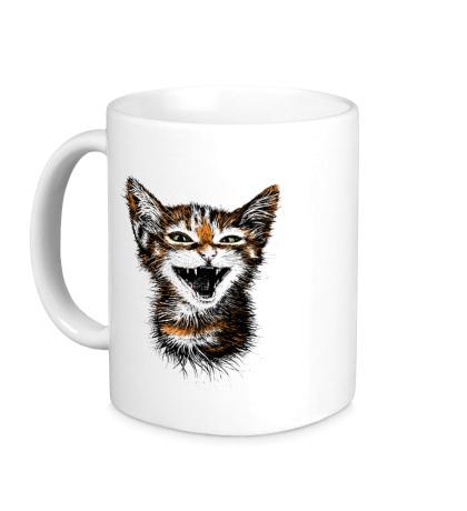 Керамическая кружка Кот-тигр