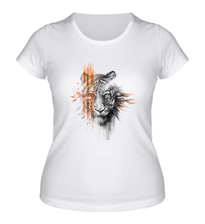 Женская футболка Полосатый тигр