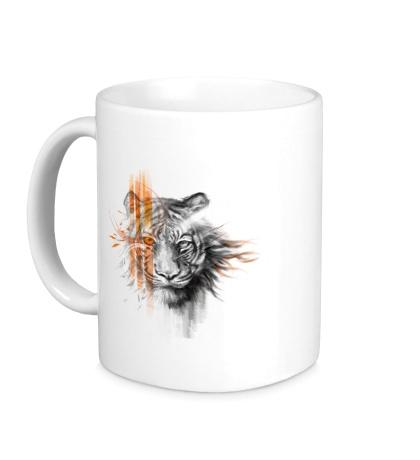 Керамическая кружка Полосатый тигр