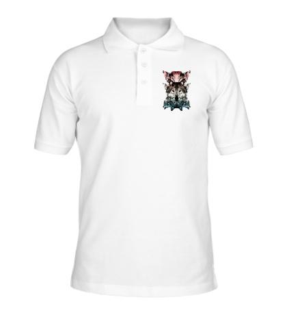 Рубашка поло Волчья геометрия