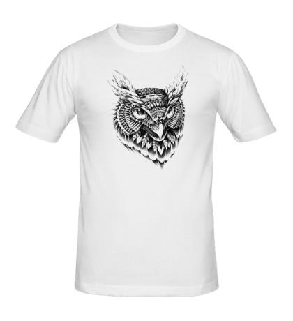 Мужская футболка Owl pencil drawing