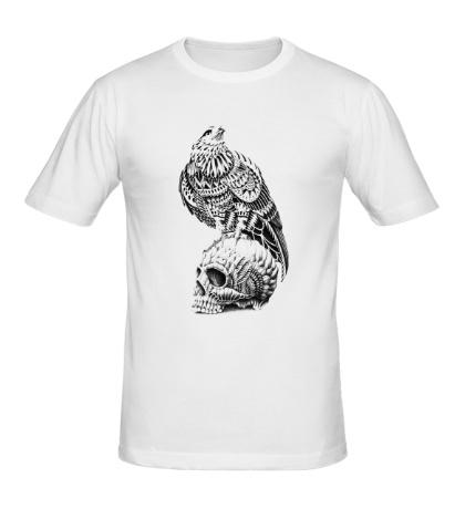 Мужская футболка Череп ястреба
