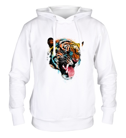 Толстовка с капюшоном Tiger in the paint