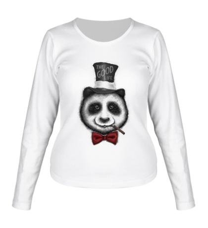 Женский лонгслив Panda: The Good Life