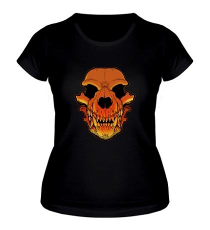 Женская футболка Череп оборотня
