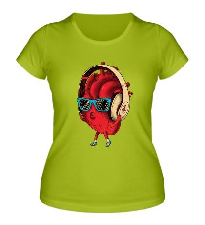 Женская футболка Сердце меломана