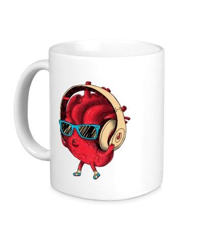 Керамическая кружка Сердце меломана
