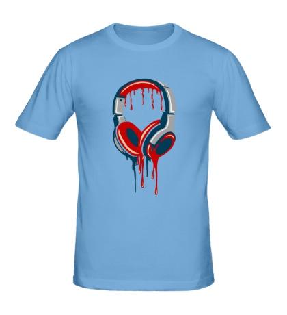 Мужская футболка Кровавые наушники