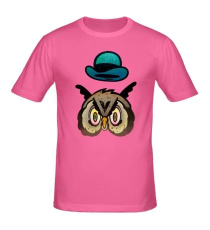 Мужская футболка Удивленная сова