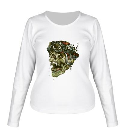 Женский лонгслив Rider Skull