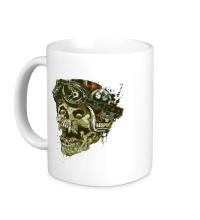 Керамическая кружка Rider Skull
