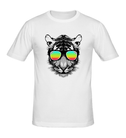 Мужская футболка Тигр в очках