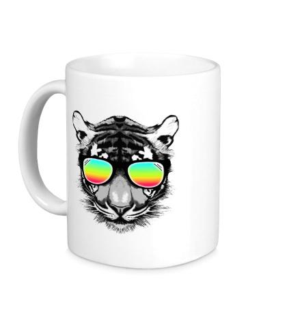 Керамическая кружка Тигр в очках