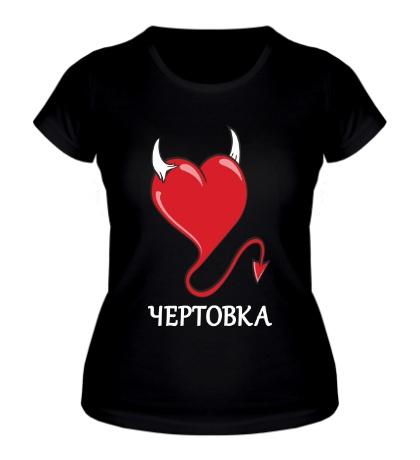 Женская футболка Она чертовка