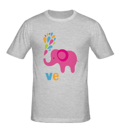Мужская футболка Влюбленная слониха