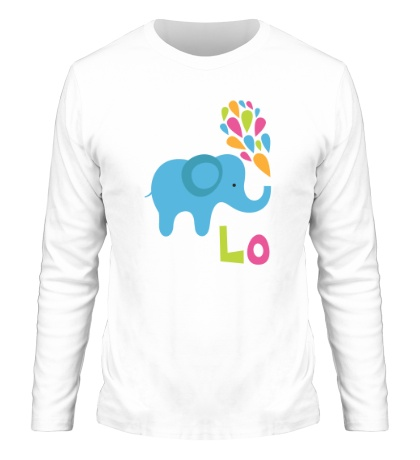 Мужской лонгслив Влюбленный слон
