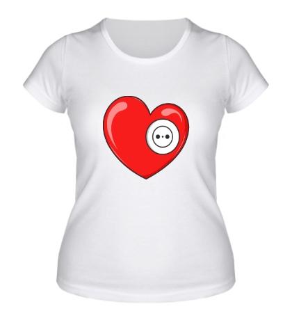 Женская футболка Сердце с розеткой