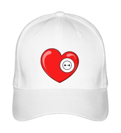 Бейсболка Сердце с розеткой