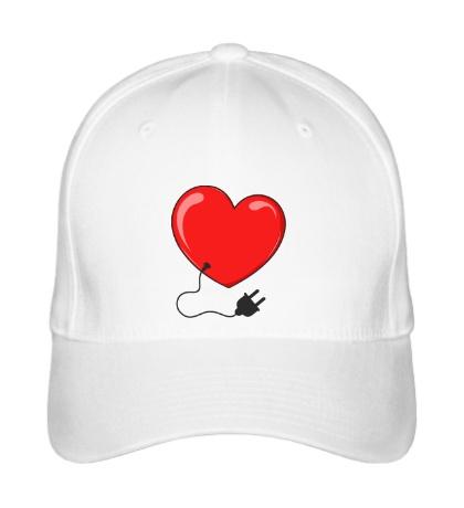 Бейсболка Сердце со штепселем