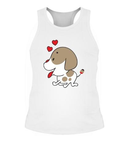 Мужская борцовка Влюблённая собачка