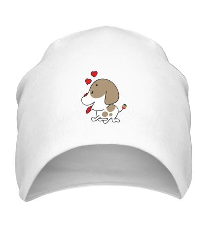 Шапка Влюблённая собачка