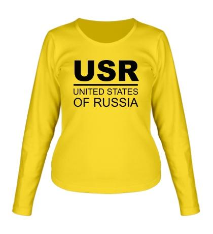 Женский лонгслив United States of Russia