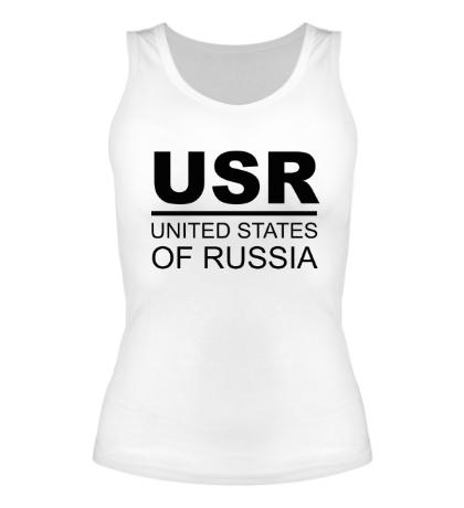 Женская майка United States of Russia
