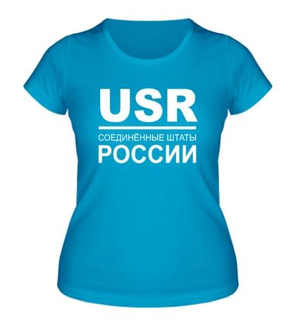 Женская футболка Соединенные штаты России