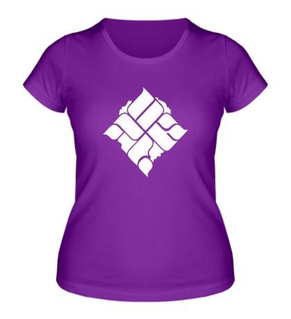 Женская футболка ОУ74, эмблема