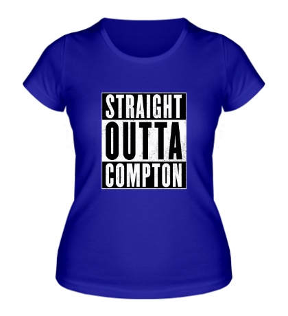 Женская футболка Straight Outta Comption