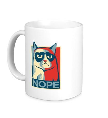 Керамическая кружка Nope Cat
