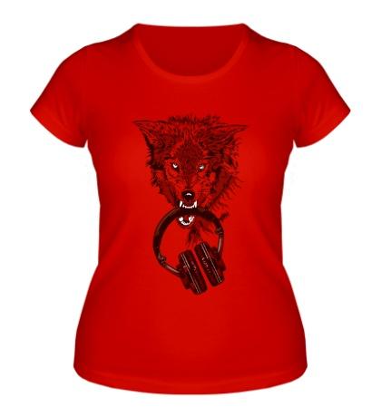 Женская футболка I want music