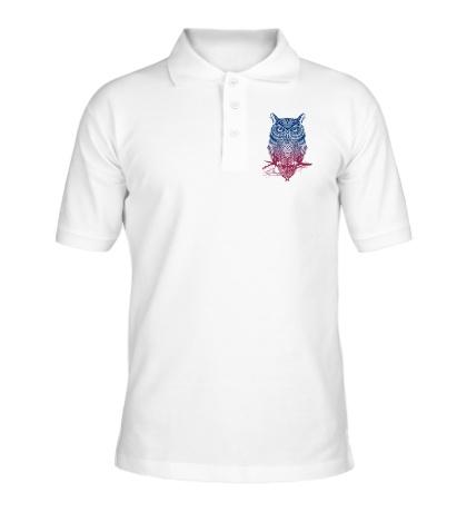 Рубашка поло Сова: ночной воин