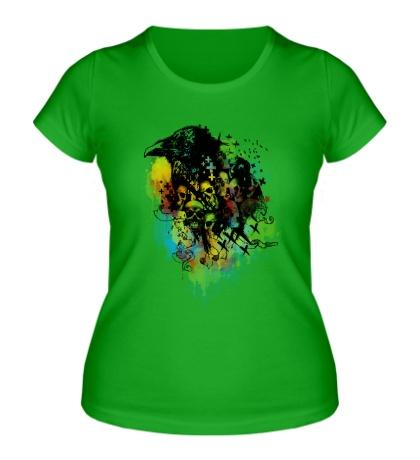 Женская футболка Bird skulls