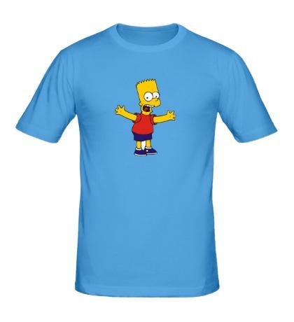 Мужская футболка Барт разводит руками