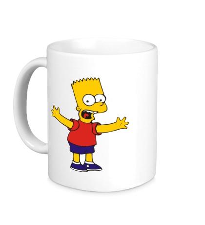 Керамическая кружка Барт разводит руками