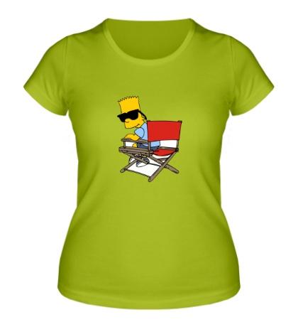 Женская футболка Барт в очках