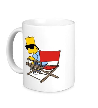 Керамическая кружка Барт в очках